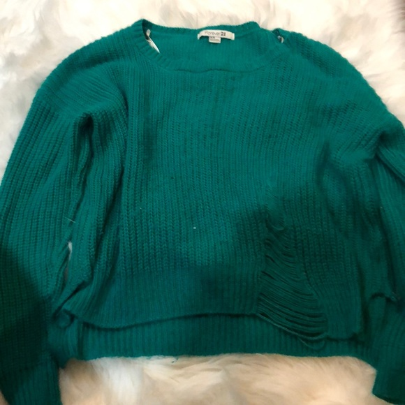 Forever 21 Sweaters - Green sweater.  Size medium.